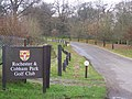 Entrance to Rochester and Cobham Golf Course - geograph.org.uk - 1054000.jpg
