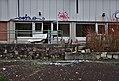 Entrance to Sanatorium du Basil with a damaged bathtub, Stoumont, Belgium (DSCF3508).jpg
