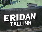 Eridan Tallinn Name near the Stern Port Side Tallinn 11 September 2013.JPG