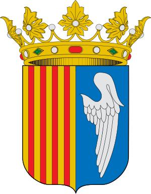 Coats of arms of Olot, Girona, Spain.
