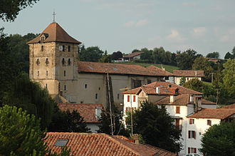 Espelette - The church of Saint-Étienne