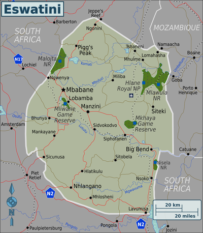 Eswatini Regions map.png
