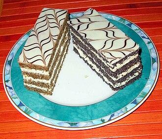 Esterházy torte - two Esterházy Schnitten