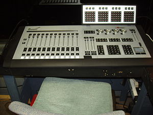 Lighting control console - A Marquee lighting control console made by Entertainment