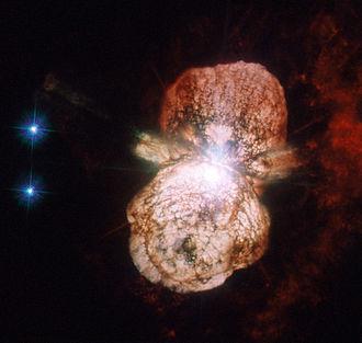 Homunculus Nebula - Homunculus Nebula around Eta Carinae (HST UV and visual image)
