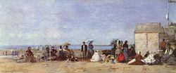 Eugène Boudin: Beach Scene, Trouville