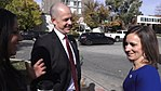 Evan McMullin and Mindy Finn joking.jpg