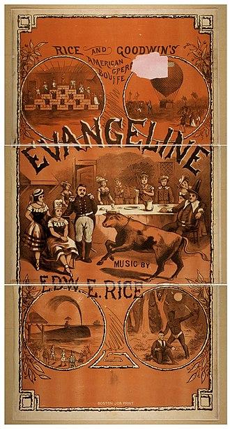 Evangeline (1874 musical) - Poster for Evangeline (1878)