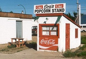 Radville - Eva's Popcorn Stand, serving many generations of Radvillites.