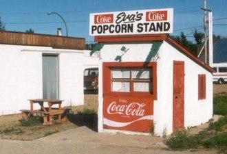 Radville - Eva's Popcorn Stand, serving many generations of Radvillites.