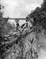 Expeditionen far från Rio Mamoré in i kanalen som förbinder nämnda floden med R. Ipurupuru. Jfr - SMVK - 005884.tif