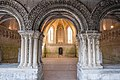 Exterior looking into chapter house of Abbaye Saint-Georges de Boscherville.jpg
