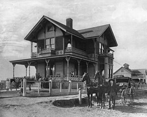 James H. Dodson Residence - View of the J. H. Dodson Residence in San Pedro (ca.1895).