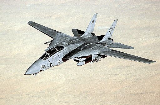 F-14B VF-103 in flight during Gulf War 1991