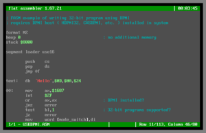 FASMD – MS-DOS version with IDE