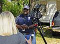 FEMA - 35391 - Community Relations team leader interviewed by media.jpg