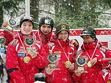 FIL European Luge Natural Track Championships 2010 - Mixed Team Prize Giving Ceremony.jpg