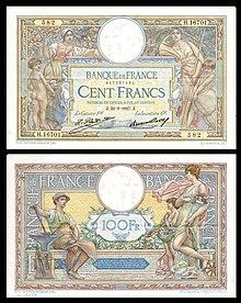 Banque De France 100 Francs 1927