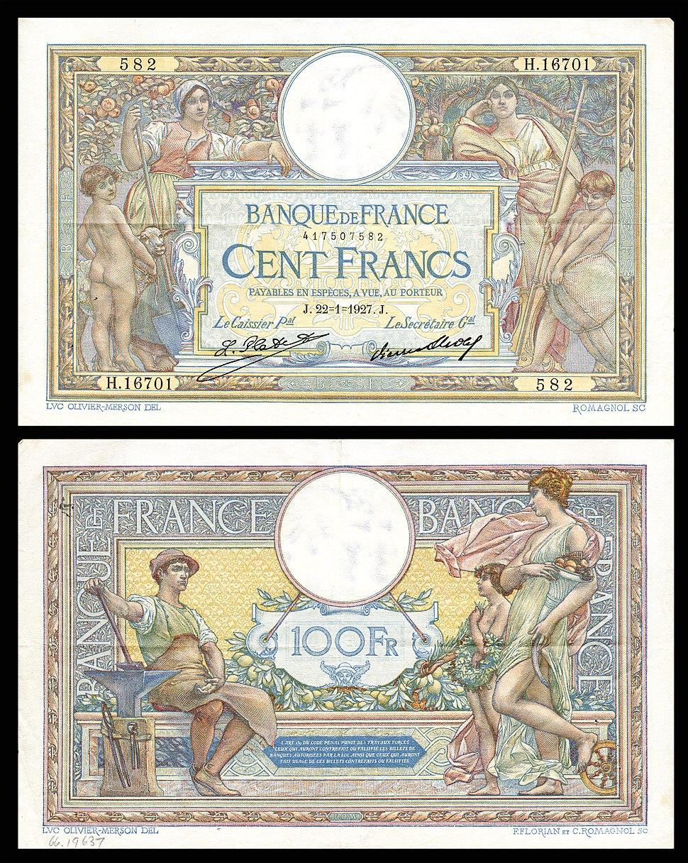 FRA-78-Banque de France-100 Francs (1927)