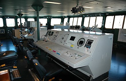 The command bridge of the aircraft carrier Charles de Gaulle FS CDG bridge3.jpg