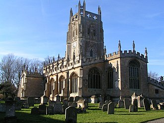 Walter Buckler - Fairford Church, with its magnificent Fairford stained glass windows, built by John Tame (d.1500), grandfather of Edmund II Tame, the first husband of Buckler's wife Katherine Denys. Burial place of Walter Buckler and of Katherine Denys and the Tames