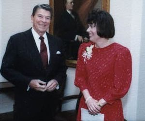 Faith Whittlesey - Image: Faith Whittlesey and Ronald Reagan