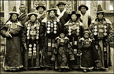 Family In Lanchow, China 1944 Fr. Mark Tennien Restored.jpg