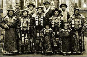 Yugur - A Yugur family in Lanzhou, Gansu, 1944.