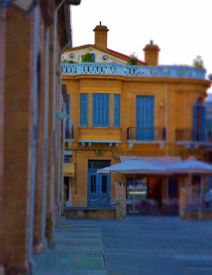 Faneromeni Square just after sunset Nicosia Republic of Cyprus Kypros