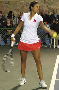 Fed Cup Group I 2013 Europe Africa day 2 Çağla Büyükakçay 003.JPG