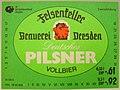 Felsenkeller Brauerei Dresden, Deutsches Pilsner Etikett (DDR).jpg