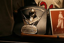 Ferguson Jenkins' Cy Young Award, Canadian Baseball Hall of Fame, St. Marys Ontario 2944 (4871384701).jpg