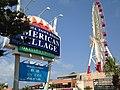 Ferris wheel and board of Mihama Town Resort American Village.JPG
