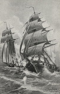 USS <i>Enterprise</i> vs <i>Flambeau</i> naval battle in 1800