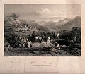 Figures, horses and camels gathering by the Well near Emmaus Wellcome V0012625.jpg