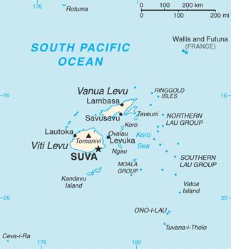 Fiji map