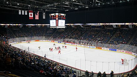 FirstOntario Centre is an indoor arena and home arena for the OHL's Hamilton Bulldogs. FirstOntario Centre - Hamilton, ON.jpg