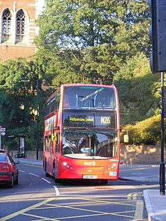 A series of night bus routes that serve Greater London