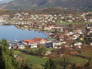 Fitjar - View of the village of Fitjar