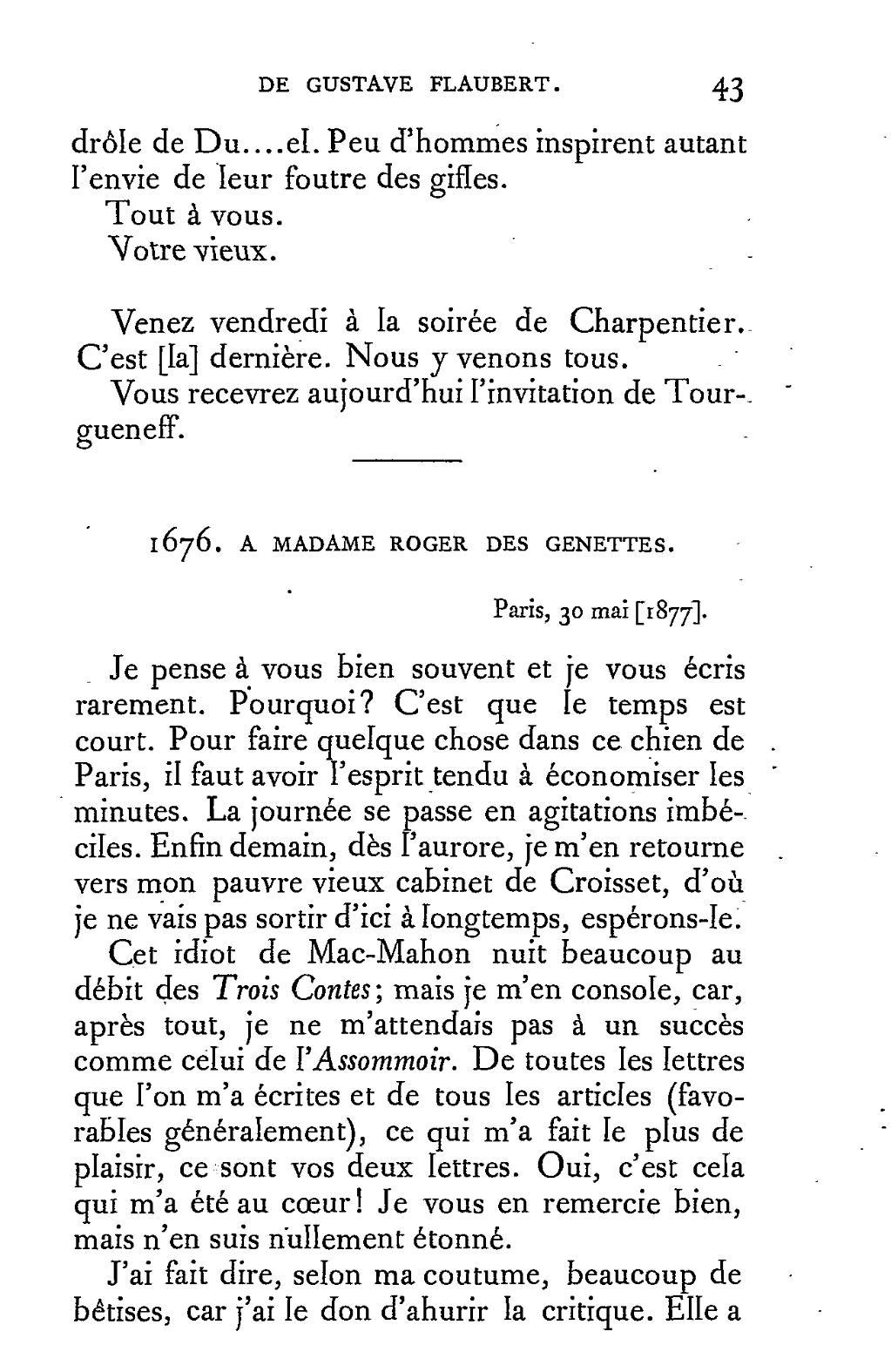 Pageflaubert édition Conard Correspondance 8djvu49