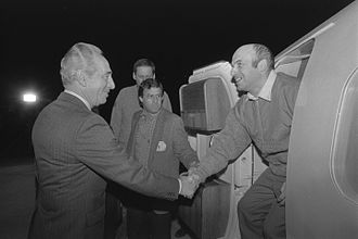 Prisoner of Zion - Anatoly Sharansky, one of the most prominent prisoners of Zion, meeting then-Prime Minister Shimon Peres after his release from the Soviet Union