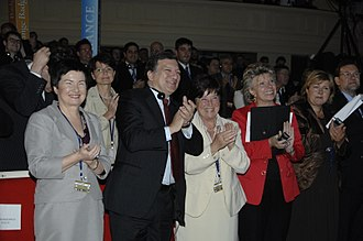 Erna Solberg - Solberg, José Manuel Barroso and Mariano Rajoy at European People's Party Congress in Warsaw in 2009