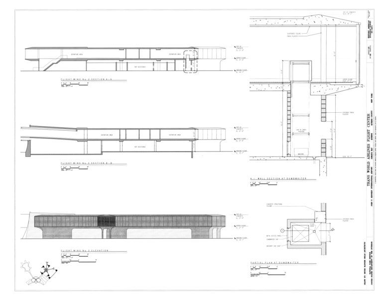 Ping Mall Plan Elevation Section : File flight wing no section elevation and details