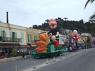 Nice Carnival - Floats at the 2010 Nice carnival