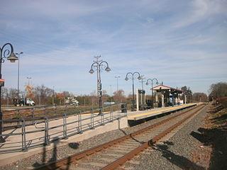Florence station (River Line) station on the River Line light rail system, New Jersey, USA