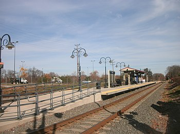 The Florence rail station is an important stop along the River Line (NJ Transit) rail corridor connecting Trenton and Camden, New Jersey. Florence Township is also a logistics hub.[1]