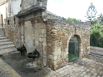 Arab fountain of Alcamo - Side view of the fountain