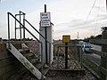 Foot crossing of railway south of Cockwood - geograph.org.uk - 1621428.jpg