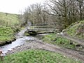 Footbridge over Dearden Brook at the top of Michael Wife Lane - geograph.org.uk - 369556.jpg