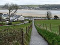 Footpath with a view of the River Towy, Llansteffan - geograph.org.uk - 1242530.jpg